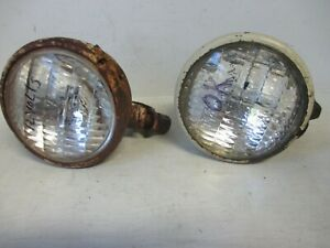Ih Farmall Tractor 12v Head Light Assemblies pair With Mounting Brackets