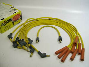 Accel 4046 Custom Fit Super Stock Ignition Spark Plug Wire Set 8mm Yellow