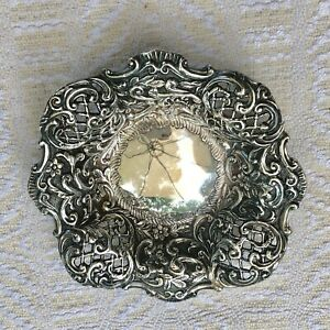 Antique Old Filligree Silver Small Plate Handcrafted