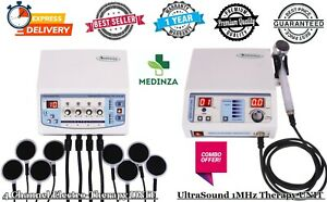 New Combo Pack Home Use 4 Channel Electrotherapy Ultrasound 1mhz Therapy Unit