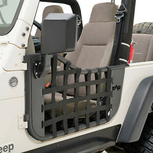 Eag Matrix Replacement Tubular Door With Mirror Fit For 97 06 Jeep Wrangler Tj