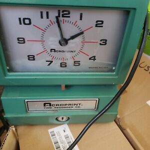 Acroprint Model 150nr4 Automatic Time Recorder 012070411