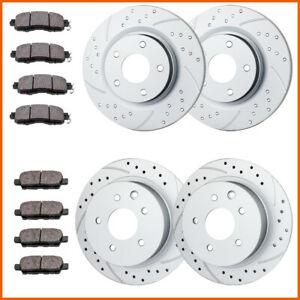 Front Rear Brake Rotors Brake Pads For 2013 2015 2016 2017 2018 Nissan Altima