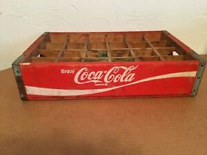 Coca Cola Wooden Crate 24 Divider Red-White