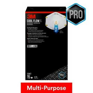 Cool Flow 8511 Pro 15 Pack 3m N95 Grade 95 Exp 01 25 Retail Box 1 Day Shipping