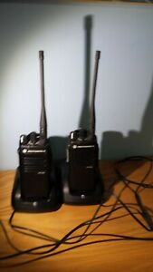 Lot Of 2 motorola Xpr3300e Uhf Radios 16 Channel Rapid Chargers Belt Clip
