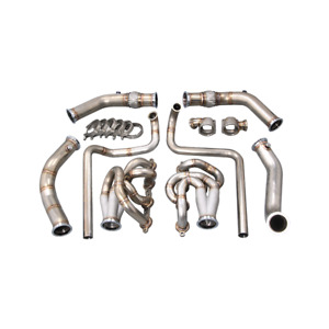 Cxracing Twin Turbo Manifold Downpipe Kit For 94 04 Chevrolet S 10 S10 Truck Ls1