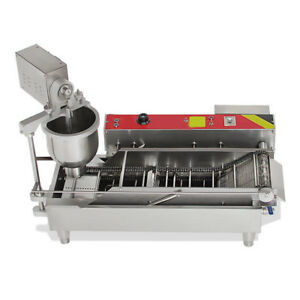 Ce 7l Commercial Automatic Electric Donut Making Machine Donut Fryer 3 Outlet