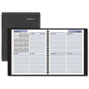 At a glance Dayminder Ruled Wirebound Weekly Planner
