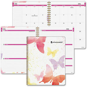At a glance Watercolors Weekly monthly Planner