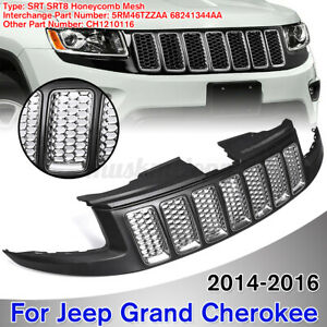 Front Bumper Honeycomb Mesh Grille Grill For Jeep Grand Cherokee 14 16 Srt8 Type