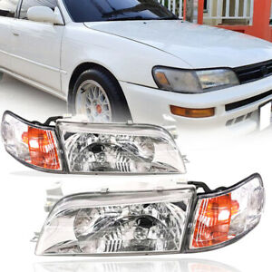 Front Headlight Lamp Lh Rh Fit For Toyota Corolla Ae100 Ae101 E100 Wagon 93 97