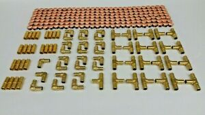 275 Pcs 1 2 Pex Crimp Fittings With Copper Crimp Rings Lead Free Brass