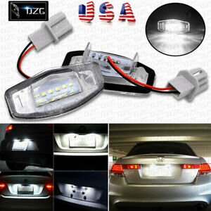 2pcs 18 Led License Plate Light Smd For Acura Tl Tsx Mdx Honda Civic Accord Usa