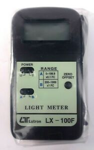 New Lutron Lx 100f Digital Light Meter Hand Held Photography Videography Clean