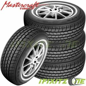 4 X Mastercraft A s Iv P215 75r15 100s white Wall All Season Performance Tires