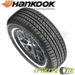 1 Hankook Optimo H724 P205 75r15 97s White Wall Wsw All Season Touring Tires