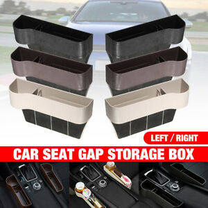 Auto Car Seat Gap Storage Box Left Right Holder Organizer Crevice Cup Drink Coin