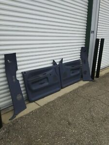94 97 Dodge Ram 1500 2500 Left Right Blue Door Panels And Trim 1994 1997 Oem Set
