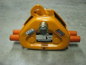 Harrington 1 Ton Manual Chain Hoist Trolley For I beam Ts2 576