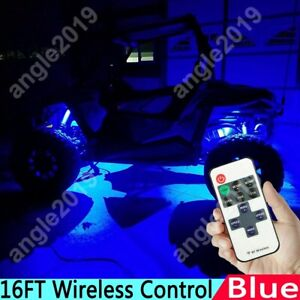 Blue Wireless 11key Control Led Light Strip 2835 Smd Kit For 4 Wheeler Atv Utv