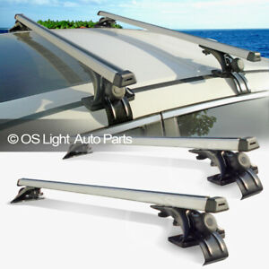 Roof Top Rail Less Crossbar Rack Carry Luggage Cross Bars Fit Sedan Coupe Wagon