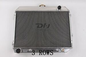 3 Row Alumium Radiator For 1968 1974 Dodge Mopar Plymouth Charger Big Block 26 w