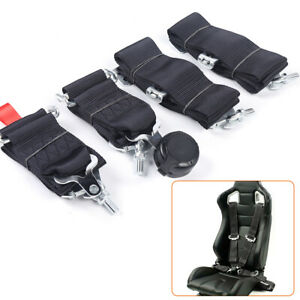 3 4 Point Racing Style Harness Safety Seat Belt 4pt Cam Lock Quick Release