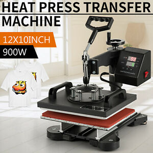 12 X 10 T shirt Heat Press Sublimation Transfer Machine 360 Degree Swing Away