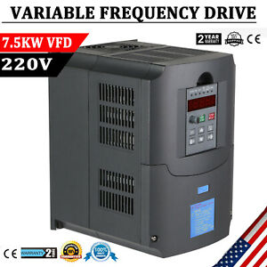 10hp 7 5kw 34a 220v Vfd Inverter Single Phase Speed Variable Frequency Drive