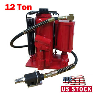 12 Ton Air Manual Pneumatic Hydraulic Bottle Jack Automotive Repair Tool
