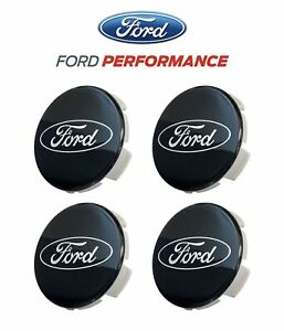 2015 2020 Ford Mustang Shelby Gt350 Fr3z 1003 a Black Wheel Center Caps Set Of 4