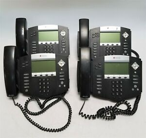 Lot Of 8 Polycom Soundpoint 550 Ip Phones W Handsets