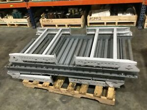 Lot Of 2 Gravity Roller Conveyor Sections 5 Ft Section 28 Wide W legs 202bk