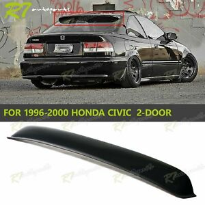For 96 00 Honda Civic 2 Door Rear Roof Window Visor Sun Guard Wing Spoiler Smoke
