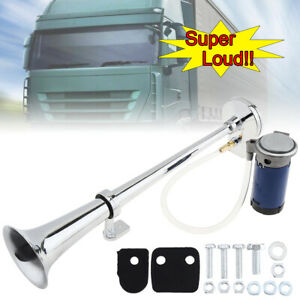150db Super Loud Single Trumpet Electronically Controlled Air Horn W Compressor