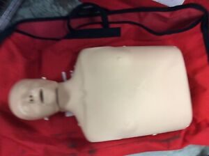 Laerdal Little Anne White Caucasian Emt Cpr Adult Manikin Trainer Red Duffle Bag