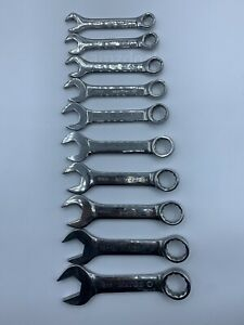 Matco Tools Stubby 12 point Metric Combination Wrench Set 10 19mm Used Tt375
