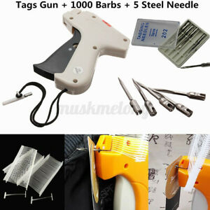 Us Clothes Regular Garment Price Label Tagging Tag Gun 1000 Barbs 5 Needle Kit