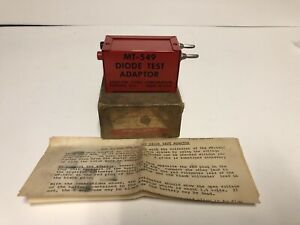 Snap on Tools Mt 549 Diode Test Adaptor In Original Box Paperwork