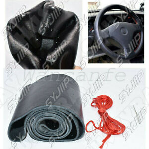 Black red Pu Leather Warming Car Steering Wheel Cover For Ford Ranger 2001 2011