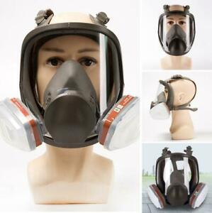 6800 Full Face Gas Mask 15 In 1 Facepiece Respirator For Painting Spraying Safe