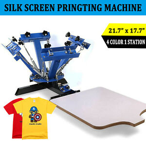 4 Color 1 Station Silk Screen Printing Machine T shirt Press Equipment Diy