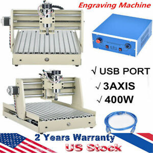 3axis 3040z Cnc Router Engraving Drill Mill Cutter 3d Machine Usb W control Box
