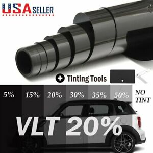 Uncut Window Tint Roll 35 Vlt 20 X 10ft Home Commercial Office Auto Film Tin