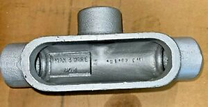 New 2 Pieces T37 Crouse Hinds Condulet Series 1 Conduit Outlet Bodies
