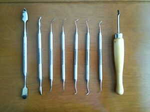 Hu friedy Dental Waxing Instruments Lot Spatula Pkt Pk Thomas Kingsley Scraper