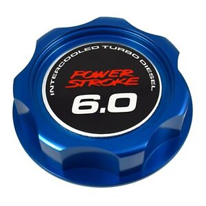 V1 Blue Oil Filler Engine Cap 6 0 Emblem For Ford 6 0l Power Stroke Turbo Diesel