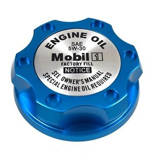 Blue Oil Filler Engine Cap Racing Billet Mobil 1 5w 30 For Toyota Scion Lexus