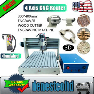 3040cnc 4axis Router Engraver 400w 3d Carving Milling Drilling Machine handwheel